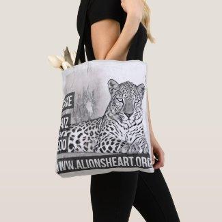 A Lion's Heart Save Taiz Zoo Arabian Leopard Tote
