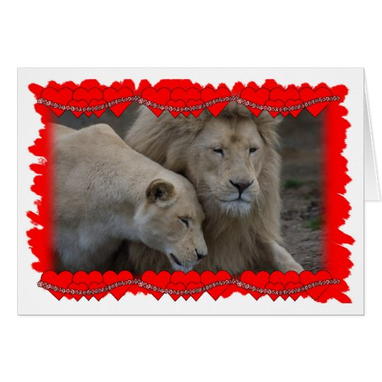 A Lion's Valentine Card