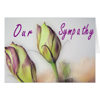 A Lisianthus Sympathy card-customize
