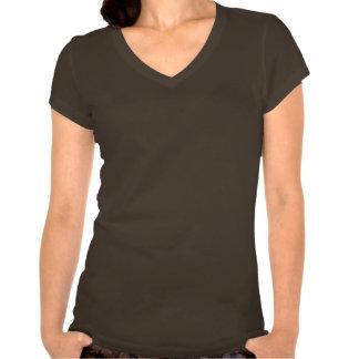 A+ List Ladies Brown V-Neck T-Shirt