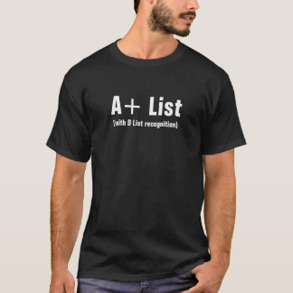 A+ List Mens Black T-Shirt