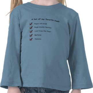 A List of My Favorite Foods Shirt