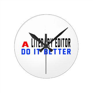 A Literary editor Do It Better Wallclock