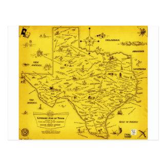 A Literary map of Texas by Dallas Pub Lib (1955).j Postcard