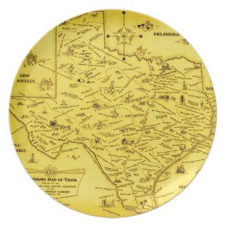 A Literary map of Texas by Dallas Pub Lib (1955) Plate