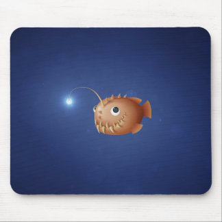 A Little Anglerfish Mouse Pad