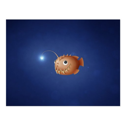 A Little Anglerfish Postcard