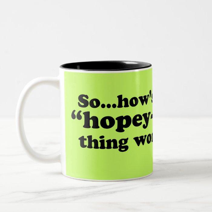 A Little Anti-Obama Humor Two-Tone Coffee Mug