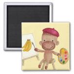 A Little Artist Socky the Sock Monkey Magnet