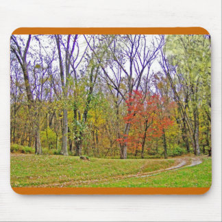 A Little Autumn Hike Mouse Pad