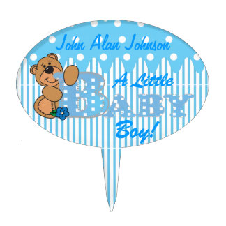 A Little Baby Boy | DIY Text Cake Topper