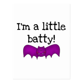 A Little Batty Halloween T-shirts and Gifts Post Cards