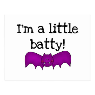 A Little Batty Halloween T-shirts and Gifts Postcard