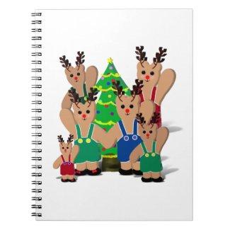 A Little Beary Reindeer Family Christmas Journals