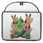 A Little Beary Reindeer Family Christmas Sleeves For MacBooks