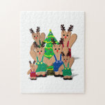 A Little Beary Reindeer Family Christmas Puzzle