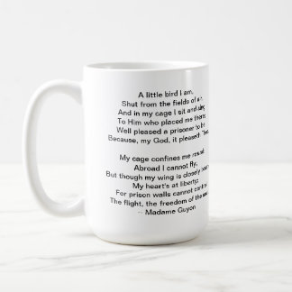 A Little Bird Poem by Madame Guyon Coffee Mug