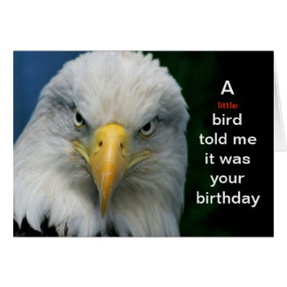 A Little Bird Told Me Its Your Birthday--Card Stationery Note Card