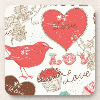 A little bird told me, Paris Print. Beverage Coaster