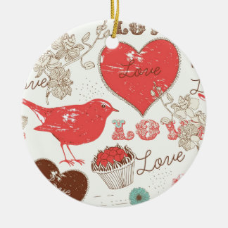 A little bird told me, Paris Print. Ceramic Ornament