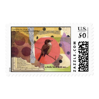 """""""a little bird told me..."""" postage"""