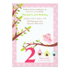 A Little Birdie Birthday Invitation (Any Age) Pink