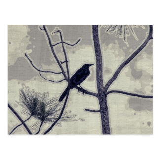 A Little Birdie- Bye Bye Blackbird Postcard