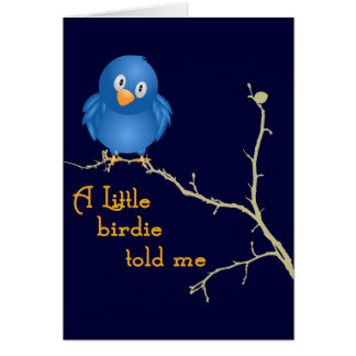 A Little Birdie Momism Greeting Card