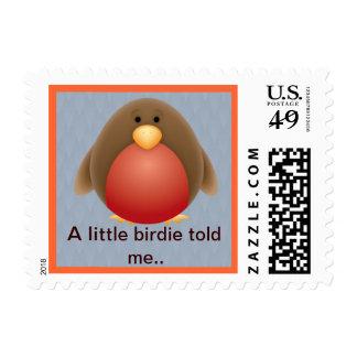 A Little Birdie Postage Stamp