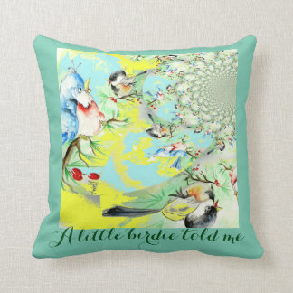 A Little Birdie told me Swirl Throw Pillow