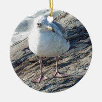 """""""A Little Birdie Told Me That...."""" Template Double-Sided Ceramic Round Christmas Ornament"""
