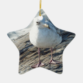 """""""A Little Birdie Told Me That...."""" Template Double-Sided Star Ceramic Christmas Ornament"""