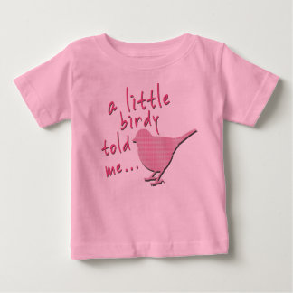 A Little Birdy Told Me Baby Jersey T-Shirt (pink)