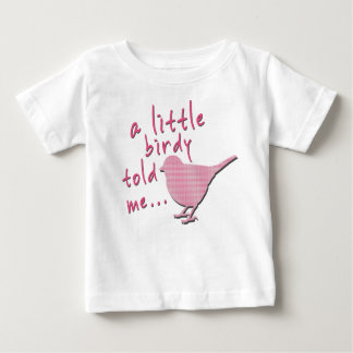 A Little Birdy Told Me Baby Jersey T-Shirt (white)