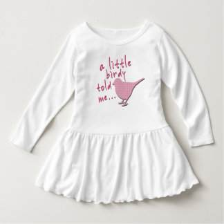 A Little Birdy Told Me Toddler Ruffle Dress (pink)