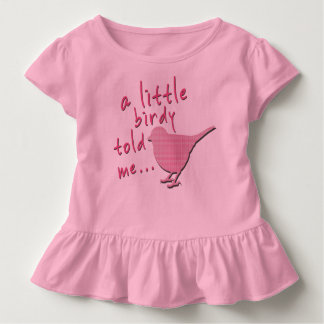 A Little Birdy Told Me Toddler Ruffle Tee (pink)
