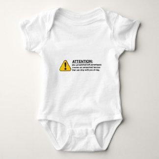 A little bit about parenthesis baby bodysuit