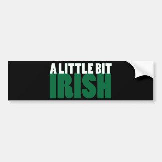 A Little Bit Irish Black Bumper Sticker