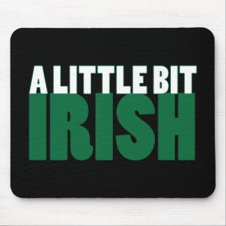 A Little Bit Irish Black Mouse Pad