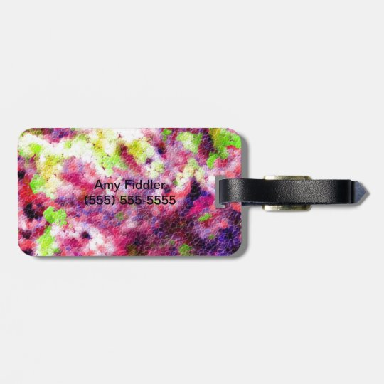 A Little Bit Pink, An Abstract Luggage Tag