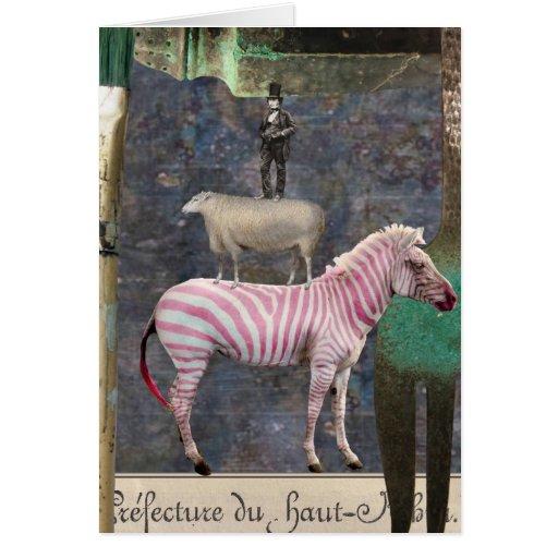 A Little Bit Twisted, Digital Collage, Birthday Greeting Card