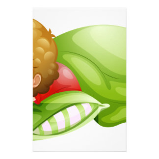 A little boy sleeping soundly personalized stationery