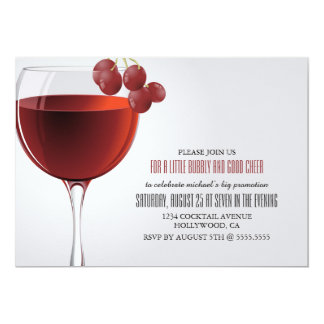 A little Bubbly Promotion Party Invitation
