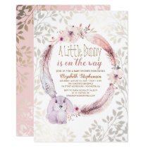 A Little Bunny Is On The Way Baby Shower Invitation