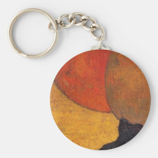 A little cat by Paul Gauguin Basic Round Button Keychain