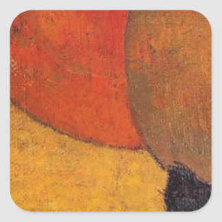 A little cat by Paul Gauguin Square Sticker