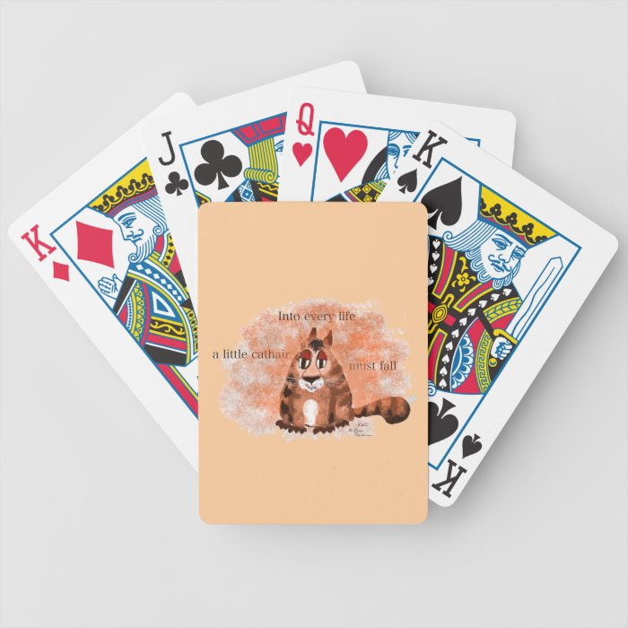 A Little Cathair Bicycle Playing Cards