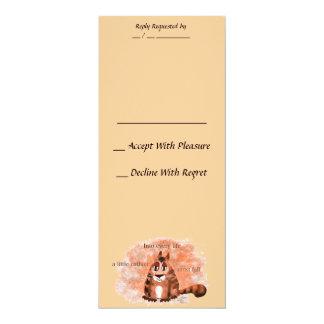 A Little Cathair 4x9.25 Paper Invitation Card