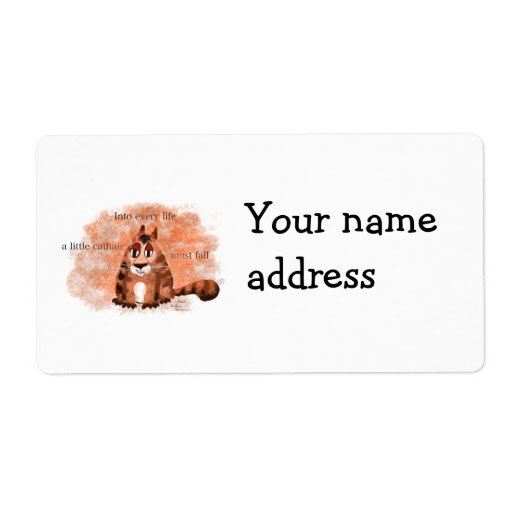 A Little Cathair Personalized Shipping Label