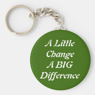 A Little Change A BIG Difference Keychain